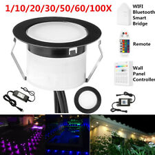 Wifi Bluetooth Black 45mm Rgbww Led Deck Patio Stair Step Soffit up/Down Lights