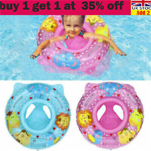 Inflatable Baby Swim Safe Seat Swimming Ring Pool Float for Toddler 6-36month sr