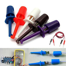 10pcs Multimeter Wire Lead Single Test Hook Clip Electronic Mini Test Probe Set