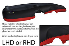 black & red FITS SMART FORTWO PASSION CITY PULSE 98-07 DASH LEATHER COVER