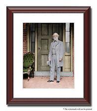 "Gen Robert E Lee Richmond Confederate 11x14"" Framed Photo Color Civil War -03116"