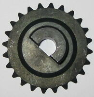 """#25 Chain Sprocket Gear - 2"""" OD - 10 mm ID for D-Type Flatted Shaft - 24 Teeth"""
