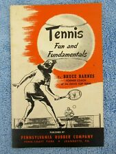 Vintage 1948 Booklet Tennis Fundamentals Bruce Barnes Pennsylvania Rubber Co.