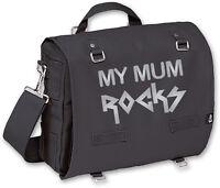 MY MUM ROCKS SILVER Pack- und Wickeltasche, schwarz