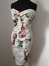 Karen Millen Vestido De Mariposa increíble UK 12