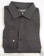 """Kenneth Cole Mens Gray Slim Fit Wrinkle Free """"Root"""" Dress Shirt 17 32-33"""