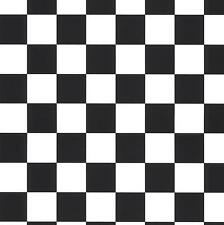"Wallpaper 1.25"" Black and White Check Checker Pattern"