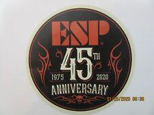 ESP GUITAR BASS 45TH ANNIVERSARY DECAL CASE RACK BUMPER STICKER NICE NEW LIMITED