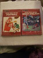 Intellivision Super Arcade Night Stalker Sears telegames football