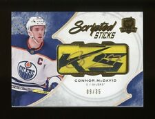 2017-18 The Cup Scripted Sticks Connor McDavid AUTO #/35 NM-MT OR BETTER