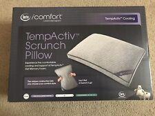 IComfort TempActiv Cooling Scrunch Pillow New In Box Queen Standard Serta