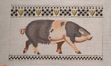 Liz / Susan Roberts Spotted Sow Pig Handpainted Needlepoint Canvas
