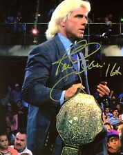 WWE NATURE BOY RIC FLAIR HAND SIGNED AUTOGRAPHED 8X10 PHOTO WITH COA WOOO 40