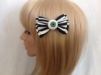 Eyeball hair bow clip rockabilly pin up girl psychobilly punk gothic zombie