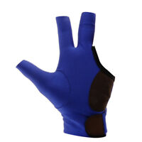 3 Fingers Left Hand Billiard Glove for Pool Snooker Cue Accessories Blue