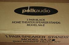 Polk Audio SA2 Satellite Speaker Stands Black Pair