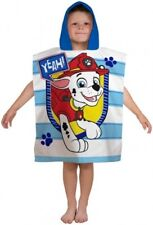 Paw Patrol Marshall Blue Stripe Peek Poncho Beach Bath Towel 100% Cotton