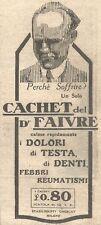 W2392 Cachet del Dott. FAIVRE - Pubblicità del 1930 - Vintage advertising