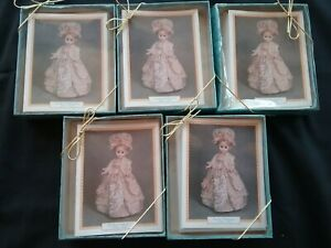 """Lot of 5 boxes VTG MADAME ALEXANDER DOLL NOTE CARDS """"THE FIRST LADIES""""  Series I"""