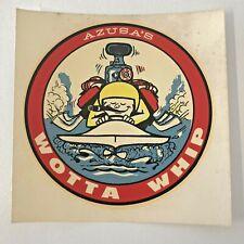 Azusa'S Wotta Whip Water Slide Decal, Original vintage 50's-60's hydro go kart