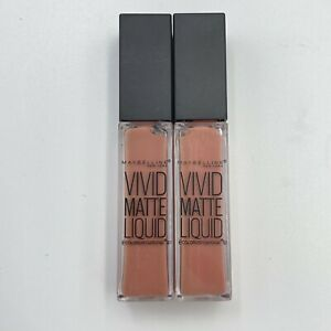 2 Maybelline Color Sensational Vivid Matte Liquid Nude Thrill New