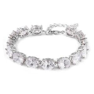 "Fashion Cubic Zirconia CZ Tennis Bangle Bracelet Jewelry Gifts For Her 8"""