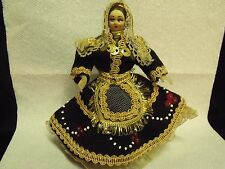 """VINTAGE 1930'S RUSSIAN 7"""" STOCKINETTE DOLL IN TRADITIONAL DRESS"""