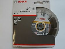 "Lama Di Diamante Bosch 115mm 4 1/2"" UNIVERSALE 2608602191 Diamante Taglio Disco 115mm"