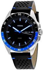 Fossil FS5321 Sport 54 Black Dial Black Leather Strap Men's Watch