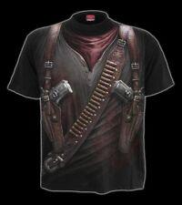 Fantasy T-Shirt Western - Holster Wrap - Spiral Revolver Pistolen Halter Cowboy