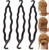 2x Magic Plastic Clip Donut Hair Styling Beauty Bun Curler Tool Maker Ring Twist