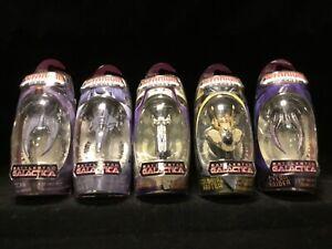 Lot of (5) Battlestar Galactica Titanium Die-cast Micro Machines [Hasbro 2006]