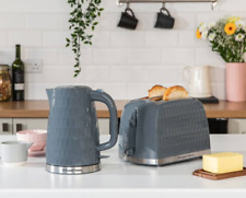Russell Hobbs Honeycomb Kettle, Toaster - White or Grey