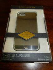 Case-Mate BRUSHED ALUMINUM IPhone CASE 5/5S Cover NEW Refined 5 5S iPHONE Phone