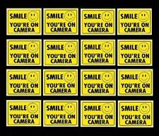 WATERPROOF SECURITY STICKERS FOR HOME ALARM SMILE YOU ARE ON VIDEO CAMERA IN USE