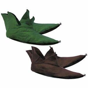 Rubies Felt Elf Brown & Green Christmas Holiday Halloween Costume Shoes 1561
