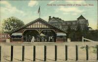 Lynn MA Point of Pines Entrance Gate c1910 Postcard