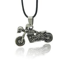 Skull Motorcycle Punk Titanium Steel Casting Necklace Pendant、NWG