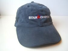Star Choice Satellite Work Hat Faded Blue Hook Loop Baseball Cap
