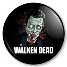 """WALKEN DEAD 25mm 1"""" Pin Button Badge Christopher Walken Walking Dead Zombie TV"""