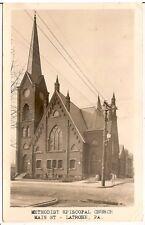 Methodist Episcopal Church in Latrobe PA RP Postcard 1935