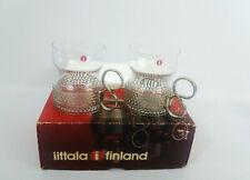 2 Vintage iittala Tsaikka Finalnd Tea Coffee Cups Designed Timo Sarpaneva & Box