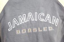 Jamaican Bobsled team grey and yellow long sleeve sweatshirt hoodie men's L