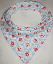 Bandanna Dribble Bib made with Cath Kidston Provence Blue material