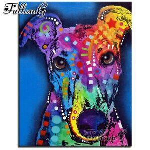 FULLCANG diy diamond mazayka greyhound dog diamond painting full square/round