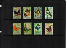 Malaysia 1970 Butterflies - Full set of 8 values to $10 MM - SG 64/71