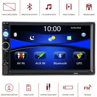 "7"" HD 2Din Touch Screen GPS Navigation Bluetooth FM Radio Stereo MP5 Player PMP"