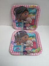 "Disney Doc McStuffins Birthday Party 9"" Square Large Dinner Plates - 2 Packs"