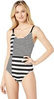 Michael Michael Kors Womens 182385 Stripe Strappy One Piece Swimsuit Size 4