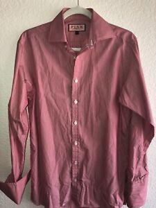 "THOMAS PINK Men's French Cuffs Long Sleeve Dress Shirt Size 14 1/2"" neck-33""Slv"
